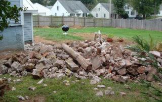 patio demolition and concrete removal
